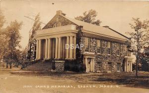 A57/ Goshen Massachusetts Ma RPPC Real Photo Postcard 1929 John James Memorial