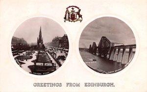 Scotland, UK Old Vintage Antique Post Card Princes Street, Forth Bridge Edinb...