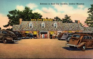 Tennessee Chattanooga Entrance To Rock City Gardens Lookout Mountain Curteich
