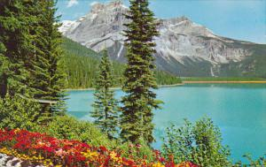 Canada Alberta Yoho National Park Enerald Lake And Michael Peak