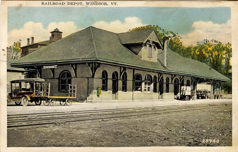 VT - Windsor. Railroad Station, Depot