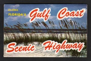 FL Gulf Coast Highway Florida Postcard Folder Pensacola Panama City Elgine Base