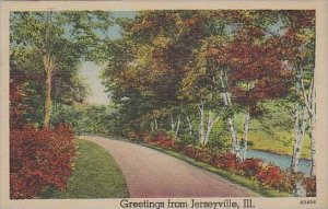 Illinois Jerseyville Greetings From Jerseyville