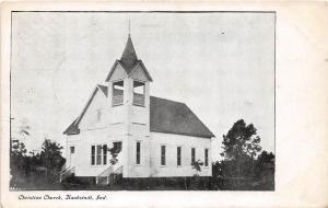 E40/ Houbstadt Indiana In Postcard 1913 Christian Church Building
