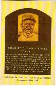 Charles Dillon Stengel, Casey