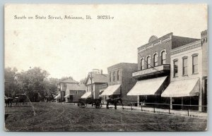 Atkinson IL~State Street~Dry Goods Store~Clothing~Groceries~Wagon~1910 CR Childs