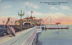 Florida Saint Petersburg The Sunshine City Recreation Pier 1950