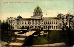 PA ~ The State Capitol HARRISBURG Pennsylvania  Dauphin County Postcard