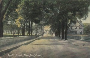STAMFORD, Connecticut, PU-1911; South Street, Tree-lined Street