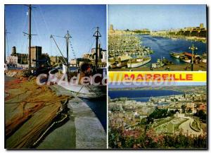 Modern Postcard Marseille The Old Port And Panoramic View From