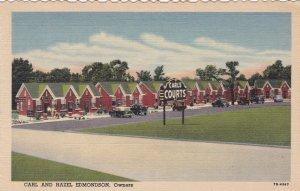 Arkansas Little Rock Carl's Court No 2 On Broadway Curteich sk673