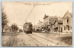 Palmyra WI Fantasy Trolley~Badger Soap~Palmolive~Main St~Street Clock~RPPC 1910