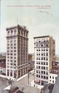 Kentucky Louisville Two Skyscrapers Lincoln & Todd Buildings 1910