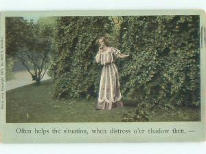 Divided-Back PRETTY WOMAN Risque Interest Postcard AA7814