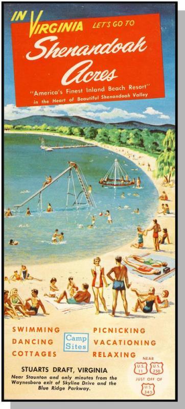 Shenandoah Acres Brochure, Stuarts Draft,Virginia/VA,1950's?