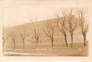 Mt Mount Ayr Iowa~High School~Chautauqua Begins Tomorrow~Too Hot~Aug 1914 RPPC
