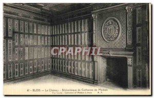 Old Postcard The Chateau Blois Catherine de Medici Library
