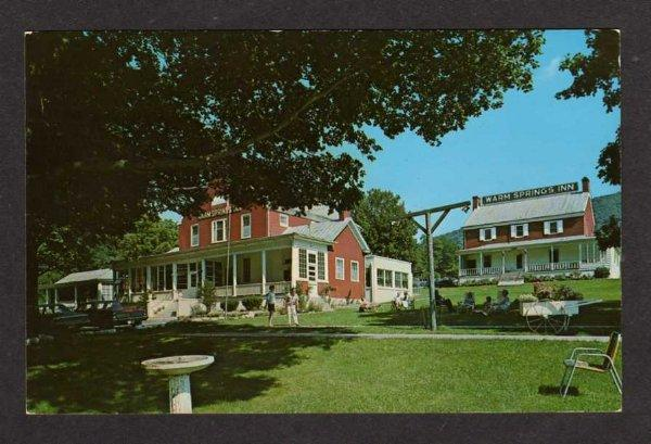 VA View WARM SPRINGS Inn Hotel VIRGINIA Postcard PC