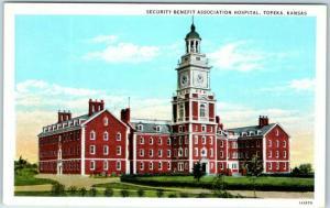 Topeka, Kansas Postcard Security Benefit Association Hospital c1930s Unused