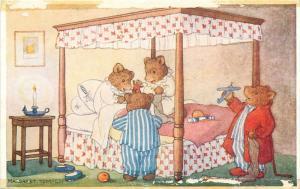 Christmas Morning Margaret Tempest Antropomorphic teddy bears toys fantasy