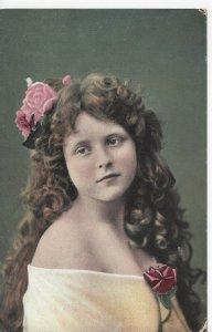 Postcard Svea Margarin Graddrikast Pretty Girl Portrait Vintage Antique