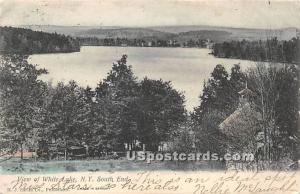 View of Lake White Lake NY Postal used unknown