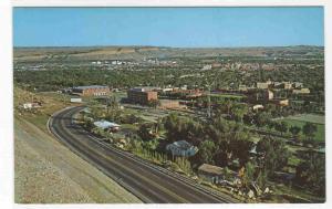 The Airport Road Panorama Billings Montana postcard