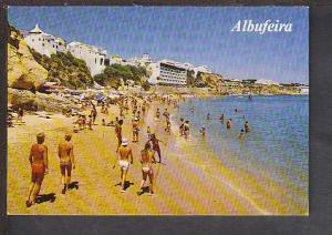 Beach Scene Albuferia Algrave Portugal Postcard BIN