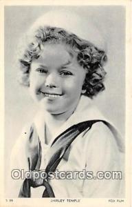 Shirley Temple Movie Actor / Actress, Entertainment Postcard Post Card Fox Fi...