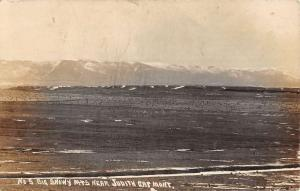 Judith Gap Montana Snowy Mountains Real Photo Antique Postcard K70276