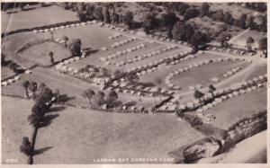 Ladram Bay Caravan Club Devon Real Photo Aerial Fare Old Postcard