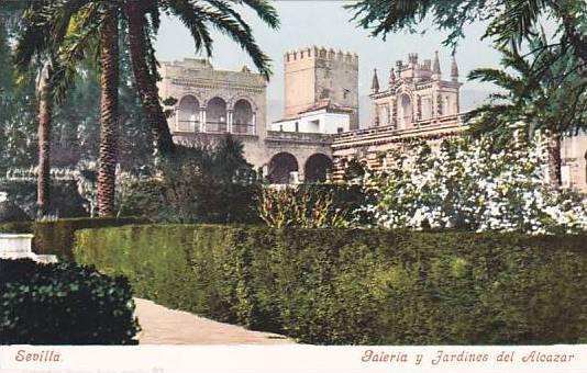 Galeria Y Jardines Del Alcazar, Sevilla (Andalucia), Spain, 1900-1910s