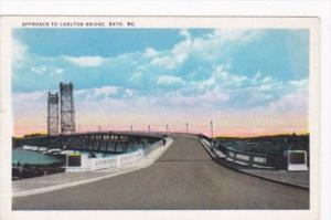 Maine Bath Approach To Carlton Bridge