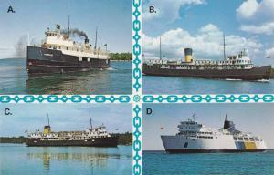 Ferry Boats, Tobermory to Manitoulin Islands route , Ontario , Canada , 60-80s