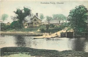 Chester UK~Men at Eccleston Ferry 1910