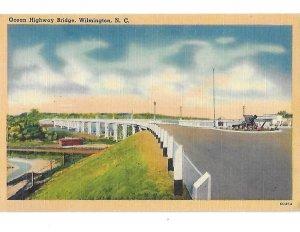 Atlantic Coastal Highway Bridge Over Cape Fear River Wilmington North Carolina