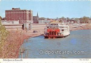 Ferry Boat Postcard Evansville, IN, USA Delta Queen