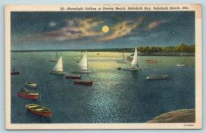 Postcard DE Rehoboth Beach Sailing at Dewey Beach on Rehoboth Bay 1940 #2 X5