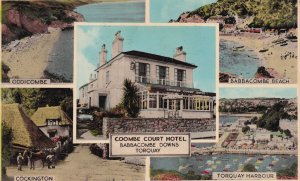Coombe Court Hotel Torquay Babbacombe Downs Postcard