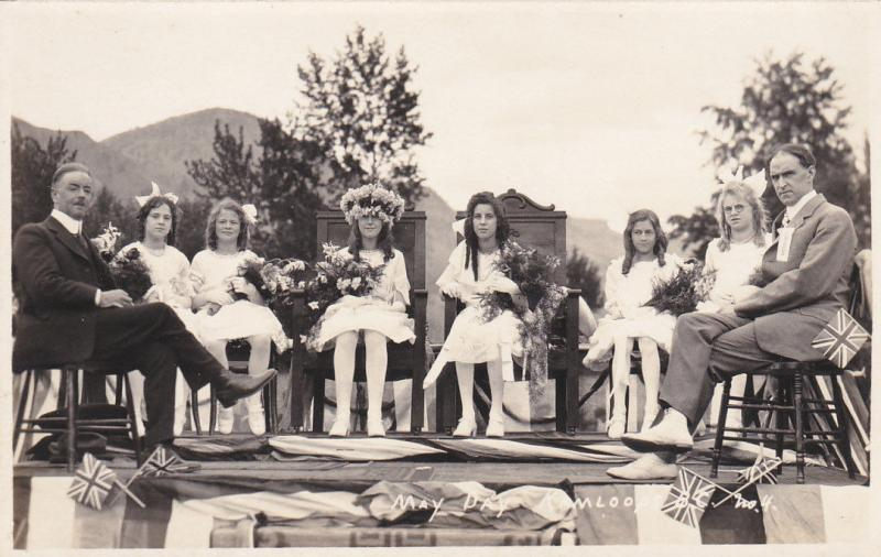 RP, KAMLOOPS , B.C. , Canada , 1910-20s ; May Day Court