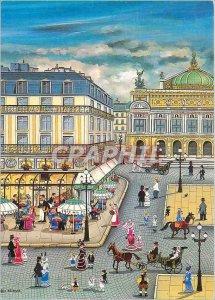 Postcard Modern Bin Kashiwa Opera Grand Hotel and the Cafe de la Paix