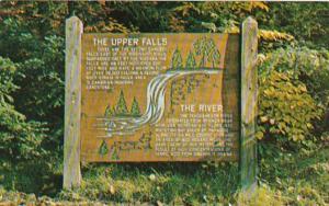 Michigan Newberry Rustic Marker At Upper Tahquamenon Falls