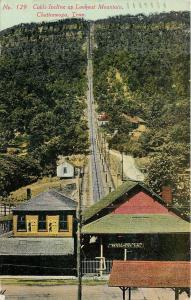 Chattanooga~Lookout Mountain Railway Co Platform~Cable Incline~Overhalls BB~1910