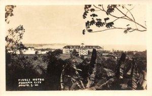 RPPC TIVOLI HOTEL Panama City, Panama Photo S-W c1910s Vintage Postcard