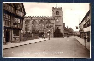Grammar School Stratford-on-Avon Real Photo unused c1920's