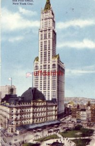 WOOLWORTH BUILDING AND POST OFFICE, NEW YORK CITY, NY 1918