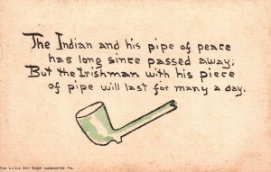 ?Vintage Postcard 1911 Indian Irishman And Their Pipe of Peace by Li'l Art Shop
