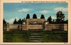 Vintage Postcard The Last Supper, Memorial In Hillcrest Park, Omaha, Neb.