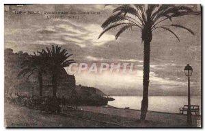 Old Postcard Nice Promenade des Was United sunrise