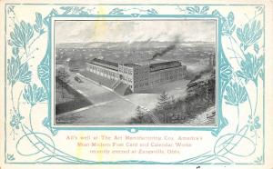 F27/ Zanesville Ohio Postcard Art Manufacturing Postcard Factory Calendars